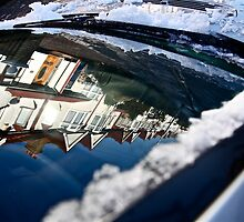Snow on my car widescreen by Tenee Attoh
