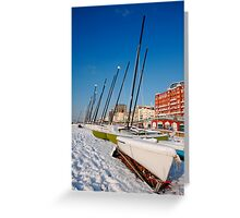 Snowy seafront II Greeting Card
