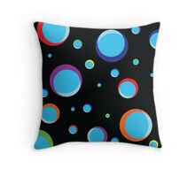 Multi colored bubbles Throw Pillow
