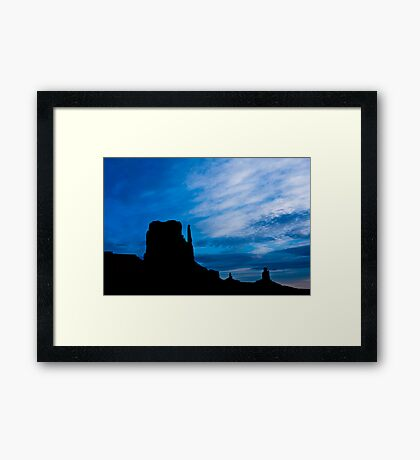 Butte Silhouettes Framed Print