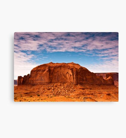 Clouds over Monument Valley Canvas Print