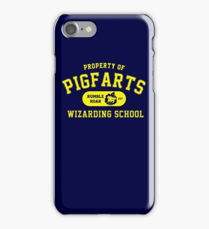Starkid: Pigfarts wizarding school (yellow) iPhone Case/Skin