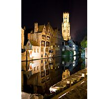 Bruges at Night Photographic Print