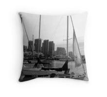 San Diego Harbor (1st of 3 of The Illusion) Throw Pillow
