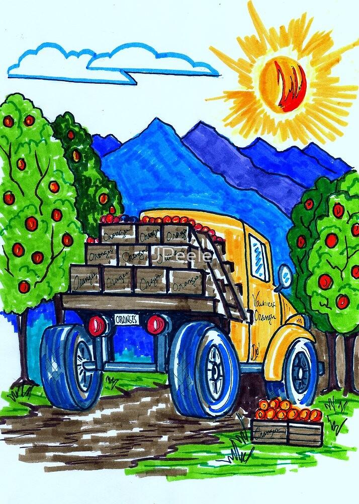 California Orange Harvest by James Peele