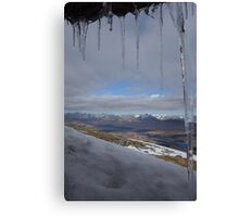 Icicles on The Mountains Canvas Print