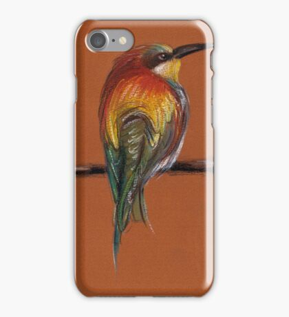 Wild - Original pastel/colored pencil drawing of a colorful wild bird iPhone Case/Skin