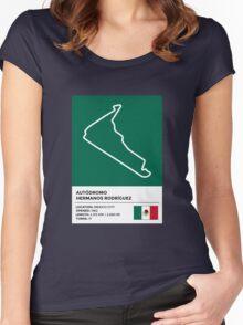 Autódromo Hermanos Rodríguez - v2 Women's Fitted Scoop T-Shirt