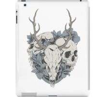 Skulls & flowers iPad Case/Skin