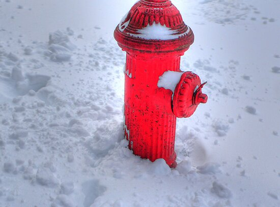 Fireplug in the snow by andytechie