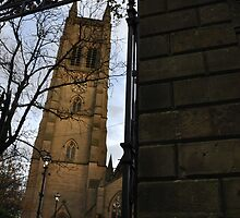 Bolton Parish Church Through Gate by Andrew Cryer