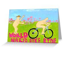 World Naked Bike Ride Greeting Card