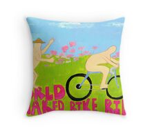 World Naked Bike Ride Throw Pillow