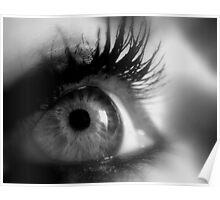 Eye macro in B&W Poster