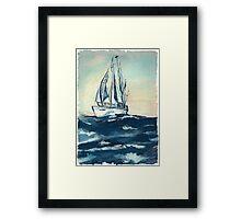Sailing on High Seas Framed Print
