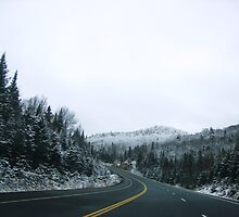 After Snow Fall - TransCanada Highway by phoenixsage