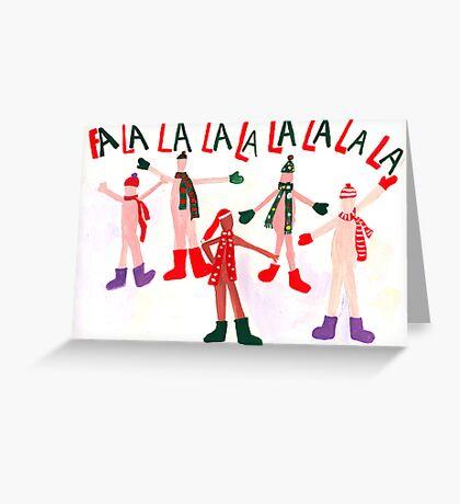Naked Christmas Carolers Greeting Card