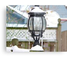 light in the snow Metal Print