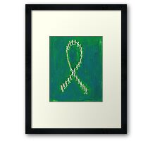 Holding Hands To Fight Breast Cancer Framed Print