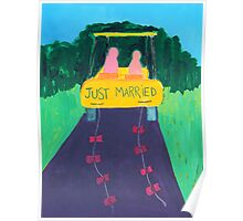Just Married At A Nudist Camp Poster