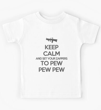 Starkid: Keep calm and set your zappers to pew pew pew (grey) Kids Tee