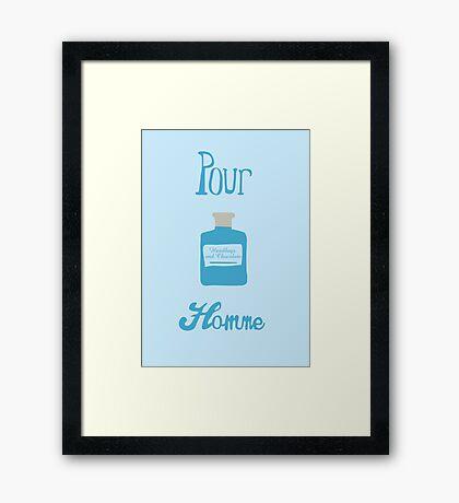 Pour Homme Framed Print