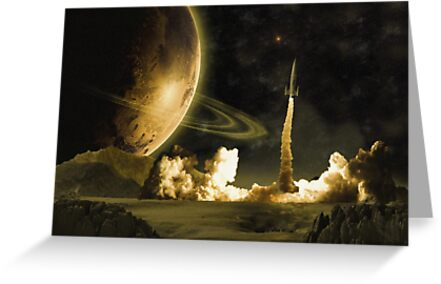 Vintage Rocket Launch by Packrat