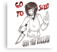 CreepyPasta - Jeff The Killer: Go To Sleep Canvas Print