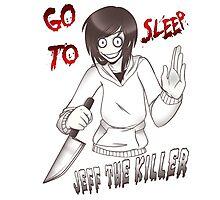 CreepyPasta - Jeff The Killer: Go To Sleep Photographic Print