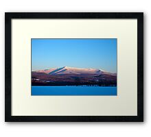 Crystal Clear Sunset, Mount Mansfield Framed Print