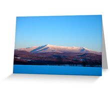 Crystal Clear Sunset, Mount Mansfield Greeting Card