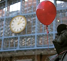 """Sir John and his red ballon"" by Bradley Shawn  Rabon"