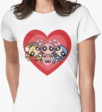 Puella Magi Girls Womens Fitted T-Shirt