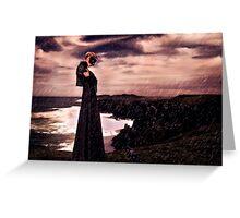 High Fashion Mystical Girl Fine Art Print Greeting Card