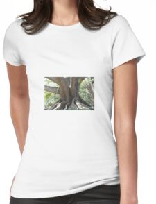 Tree Trunk Womens Fitted T-Shirt