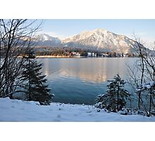Lake and Snow Photographic Print