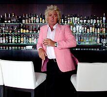 Rud Stewart has a small Scotch by Philip  Rogan