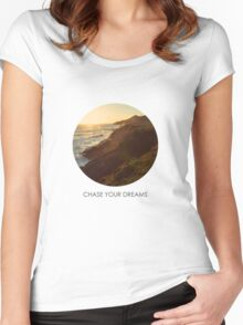 Chase Your Dreams Women's Fitted Scoop T-Shirt