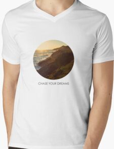 Chase Your Dreams Mens V-Neck T-Shirt