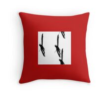 sumi e [birch] Throw Pillow