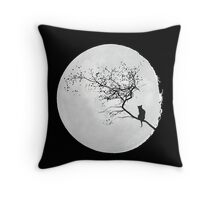 Staring at the moon. Throw Pillow