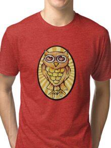 Cute Retro OWL Tri-blend T-Shirt