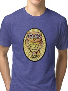 Cute Retro OWL Tri-blend T-Shirt