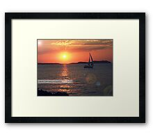 Run off into a sunset... Framed Print