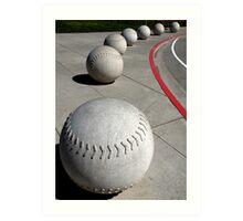 Curve Ball Art Print
