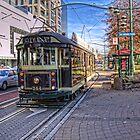 Christchurch Tram by Tony Burton