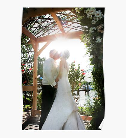Bridal sunglare kiss Poster