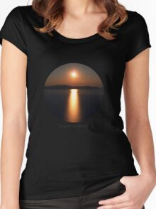 Follow the Sunset! Women's Fitted Scoop T-Shirt