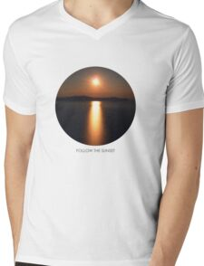 Follow the Sunset! Mens V-Neck T-Shirt