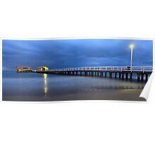Queenscliff Pier Pre-dawn, Victoria, Australia Poster